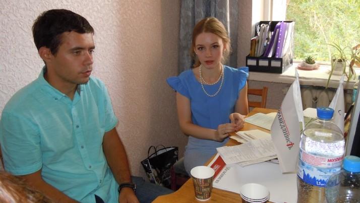 В селі Борова, що на Харківщині, Рух «Справедливість» провів «виїзну» юридичну консультацію