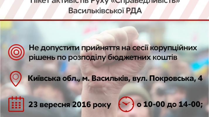 Активісти Київщини вийдуть на пікет Васильківської РДА
