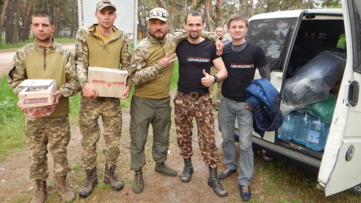 Україна і «Справедливість»  на Донбасі під обстрілами (відео)