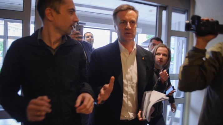 Наливайченко у Вільнюсі відмовився давати інтерв'ю путінським ЗМІ