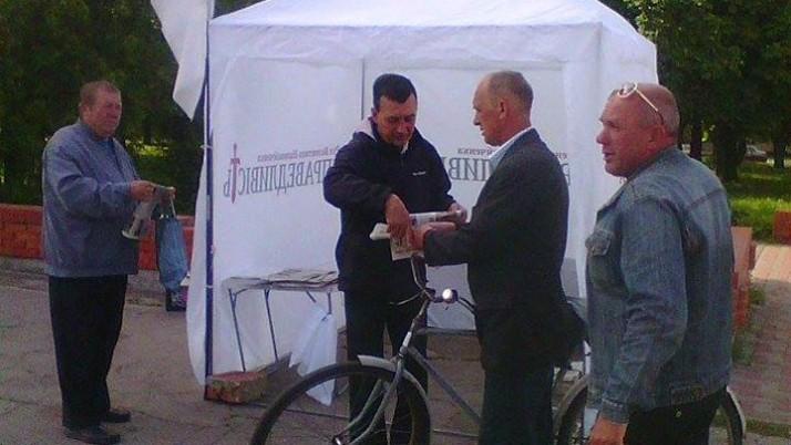 В Борзні та Ніжині актив Руху «Справедливість» продовжив збір підписів мешканців під листом із вимогами до влади