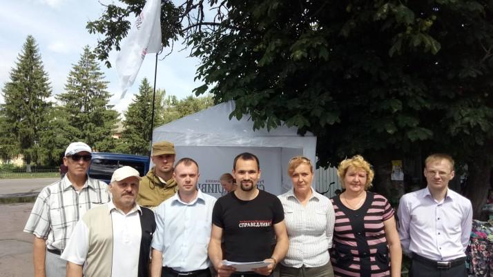 Представники Руху «Справедливість» у Козельці і Ніжині проводили акції з  рядом вимог до владних суб'єктів