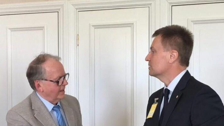 Наливайченко зустрівся з першим віце-спікером парламенту Естонії Ееном Еесмою та провів низку важливих переговорів