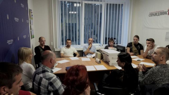 Рух «Справедливість» організував перше засідання штабу Спільних дій у Чернігові