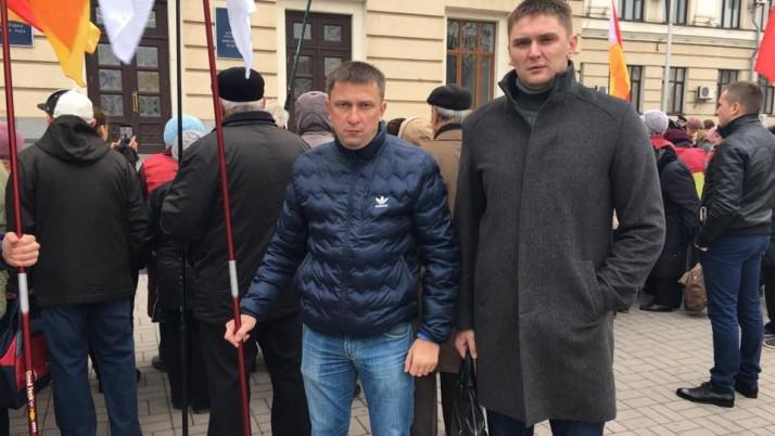 Біля стін мерії Запоріжжя мітингували проти високих тарифів за житлово-комунальні послуги