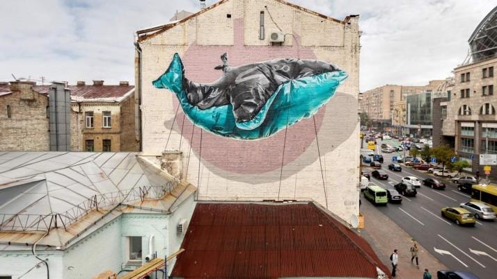 Мурал «Синій кит» — у списку найкращих, створених у 2017 році (фото)