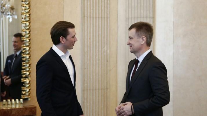Федеральний канцлер Австрії Себастіан Курц прийняв Валентина Наливайченка