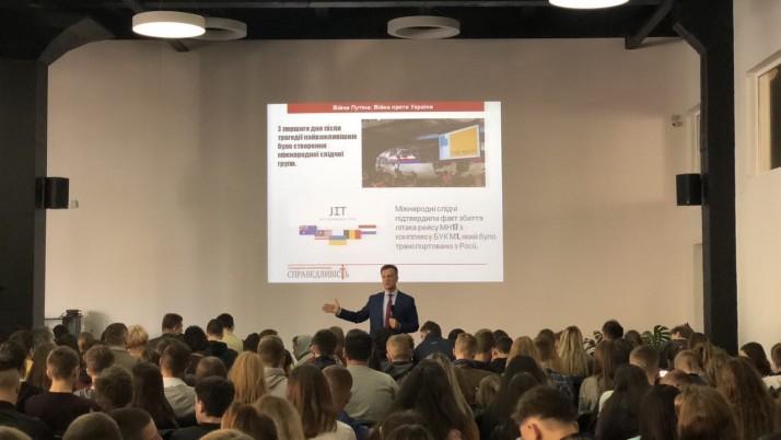 Валентин Наливайченко прочитав лекцію студентам Університету Короля Данила