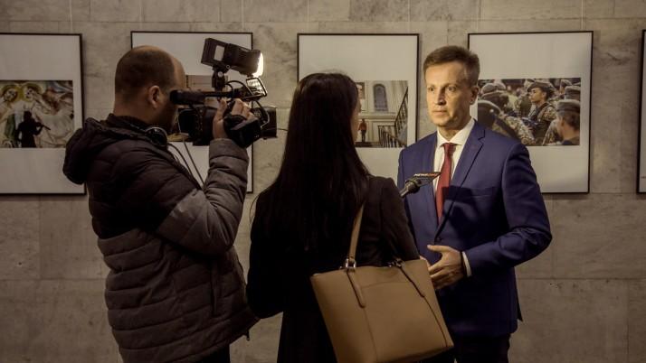 Валентин Наливайченко на відкритті фотоконкурсу газети «День»