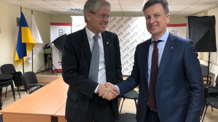 Валентин Наливайченко зустрівся з Головою делегації МК Червоного Хреста Аланом Ешліманном